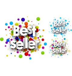 Best seller colour backgrounds set vector image