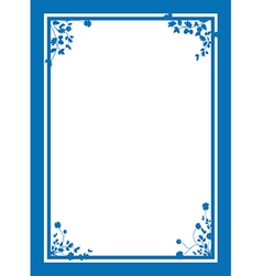 blue floral corners background vector image