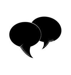 Bubble speech communication dialog pictogram vector