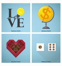 Business concept Idea Artwork vector image
