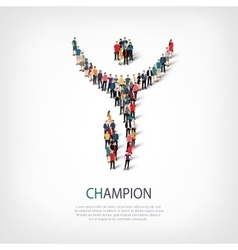 Champion people sign vector