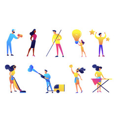 cleaning service company set vector image