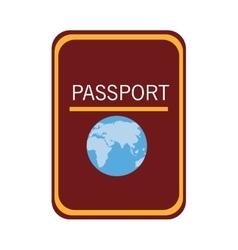 Colorful passport adn world map graphic vector