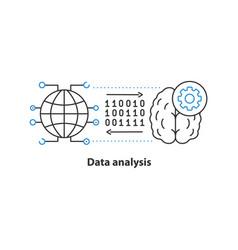 data analysis concept icon vector image