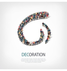 decoration people sign 3d vector image