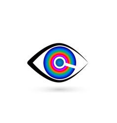 eye with swirly iris icon vector image