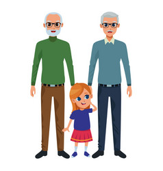 Family grandparents and grandchildren cartoons vector