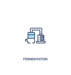 Fermentation concept 2 colored icon simple line vector
