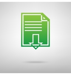 File download Green icon vector image
