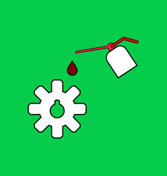 flat icon design collection gear and oil vector image