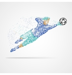 Football soccer goalkeeper vector image vector image