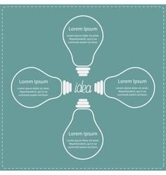 Four contour big light bulb Idea concept Business vector