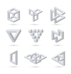 Geometric optical symbols vector