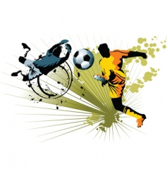goalkeeper and striker vector image