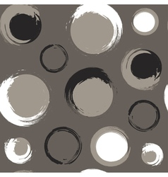 Grunge circles on grey brown or taupe background vector image