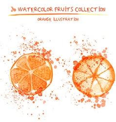 Hand drawn watercolor lemons vector