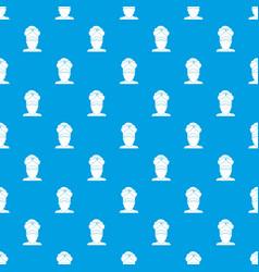 Indian man pattern seamless blue vector