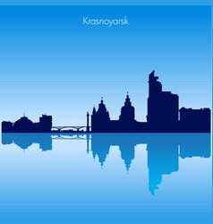 krasnoyarsk skyline silhouette russia vector image
