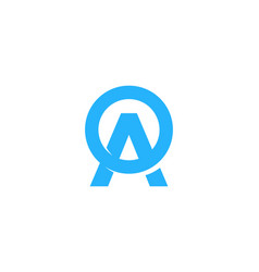 letter a logo icon design vector image