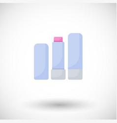 Lip balm flat icon vector
