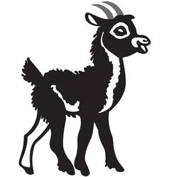Little black goat vector