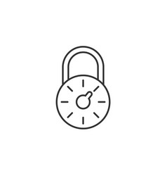 lock key code line icon simple modern flat for vector image