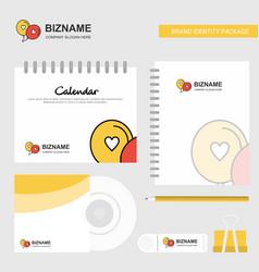 Love balloons logo calendar template cd cover vector