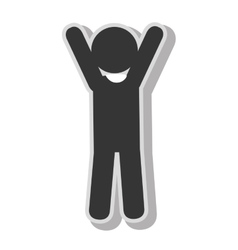 Male hands up pictogram vector image