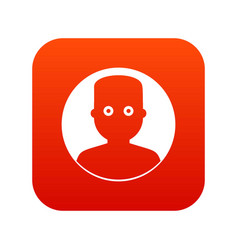 man in the dark icon digital red vector image