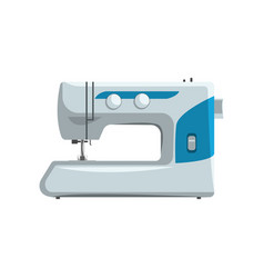 Modern sewing machine dressmakers equipment vector