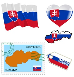 national colours of Slovakia vector image
