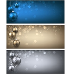 New Year banners set vector image