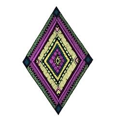 Original drawing tribal doddle rhombus vector image