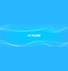 particle waves showing a stream clean fresh air vector image