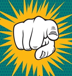 POPART FIST4 vector image