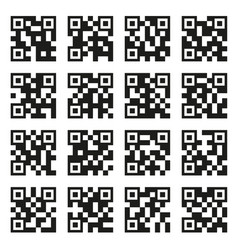 qr codes set example icons on white background vector image