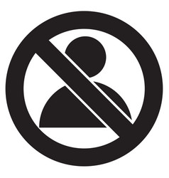 restricted user flat vector image