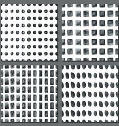 set four watercolor simple patterns vector image