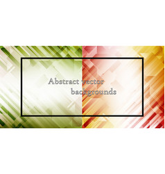 set of abstract hexagon background technology vector image