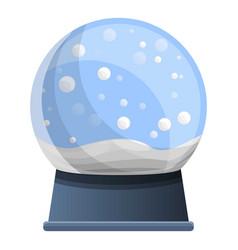 Snowglobe icon cartoon style vector