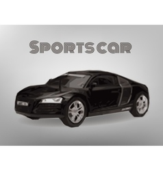 Sports car front view The image of a sports back vector