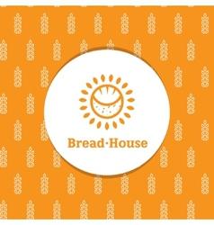 Sunny minimalistic bakery logotype with decorative vector