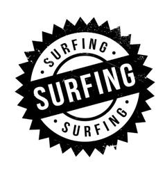 Surfing stamp rubber grunge vector image