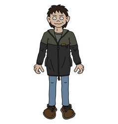 the funny boy in a jacket vector image
