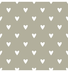 Tile cute pattern with hand drawn white hearts vector
