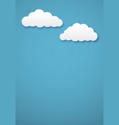 two clouds vector image
