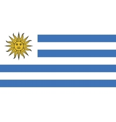 Uruguay flag image vector image