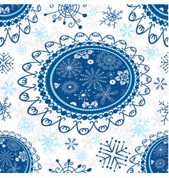 white seamless christmas pattern vector image