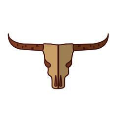 wild west cow skull vector image