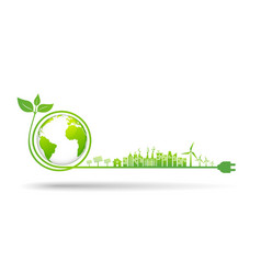 World environment and sustainable development vector